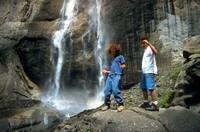 Summer Scott Yosemite waterfall