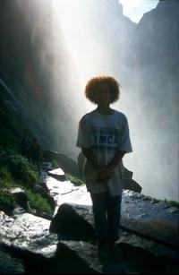 Summer Yosemite waterfall