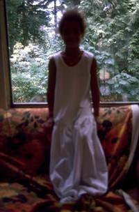 Summer in white dress