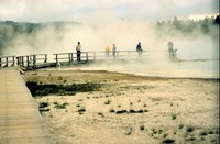 Yellowstone walkway 1984