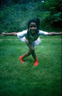 ballerina Heather in MV yard