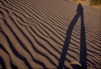 long Death Valley dune shadow