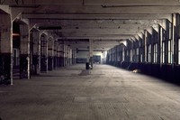 old Hudson factory in Detroit 1970