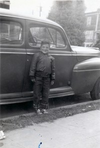 rb bruce 1st day of 2nd grade in front of mercury sep 1955 001