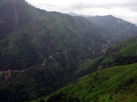 road from Little Adams Peak