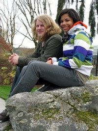 shawn and heather in bremerton park