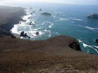 sonoma state beach from peaked hill