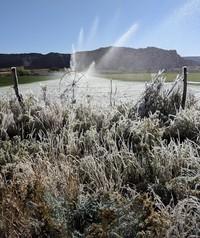 sprinklers near Cannonville Utah
