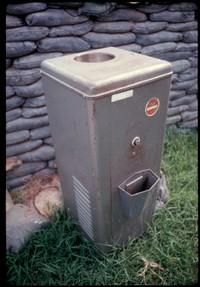 ss 025 1970 06 03 water cooler and sand bags outside barracks