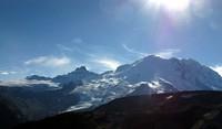 sunny Rainier from Sourdough Ridge